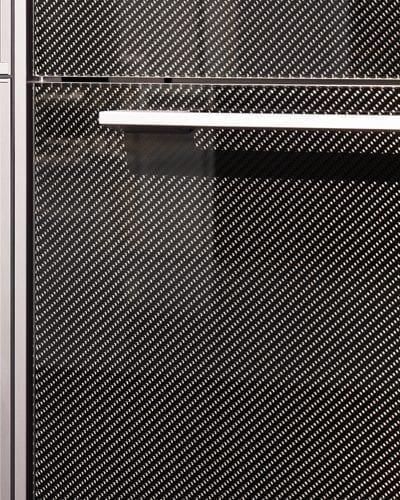 carbon frontplatte in glas