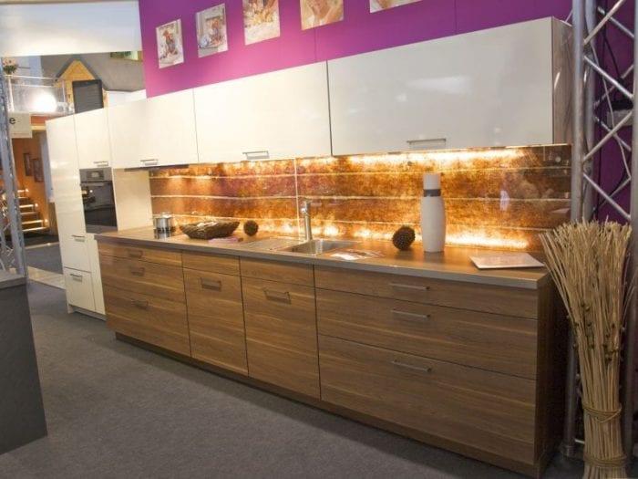 kitchen Barktex in glass